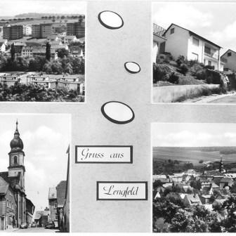 Historische Postkarte aus Lengfeld aus dem Jahr 1971.