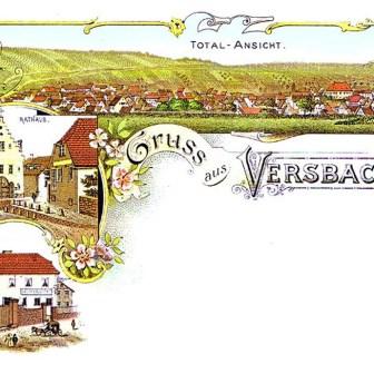 Historische Postkarte aus Versbach