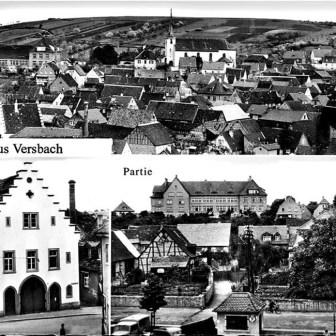 Grusskarte aus Versbach aus dem Jahr 1961.