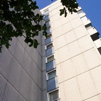 Hochhäuser in der Brüsseler Straße 2005.