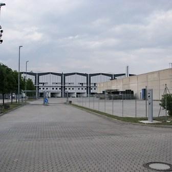 Blick auf das Betriebsgelände der Firma Brose ehemals Siemens VDO.