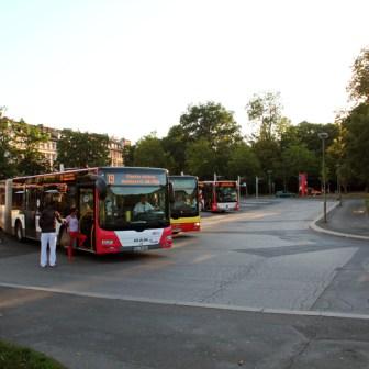 Der Busbahnhof - bisher unverändert.