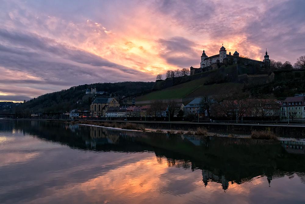 Würzburg an einem Januartag