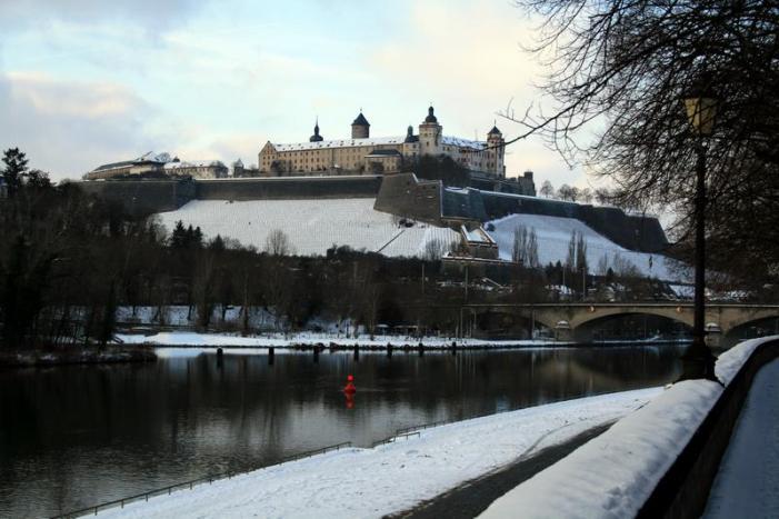 Winter in Würzburg im Januar 2010.