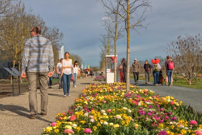 Landesgartenschau Gelände am ersten Eröffnungswochenende.