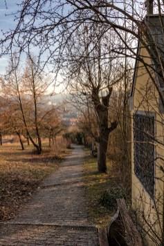Blick vom Stationenweg runter ins Tal.