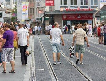 Symbolbild Fußgängerzone (Foto: wuerzburg24.com)