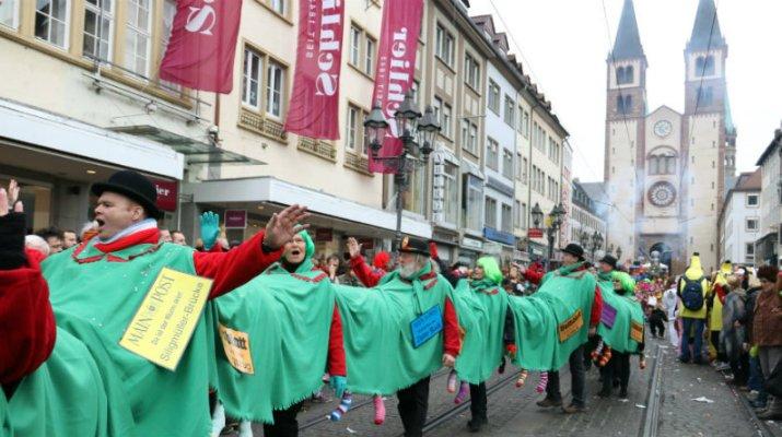 Gute Stimmung beim Faschingszug in Würzburg. (Foto: wuerzburg24.com)