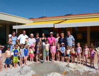 Neuer Wasserspielplatz im Kinderhaus Schatzinsel