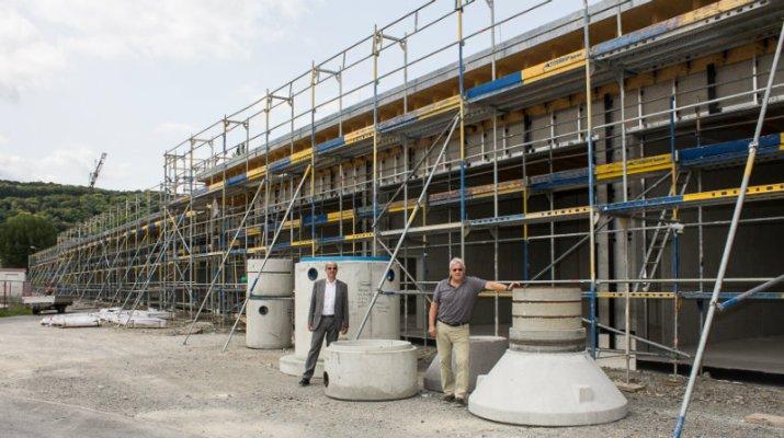 EBW baut neues Lager für Sand, Absperrungen und Aggregate