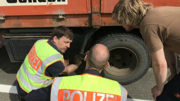 Verkehrskontrolle der Polizei - Vielzahl von Verstößen festgestellt