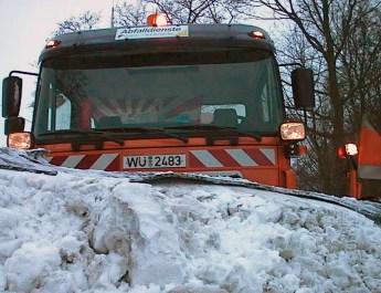Die Stadtreiniger sind für den Winterdienst gerüstet