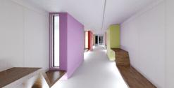 Blick-KG-Flur-Richtung-Altbau_Beleuchtung-unter-Sitzbänken-2