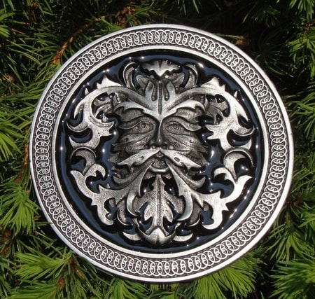 GREEN MAN belt buckle  wulflundcom