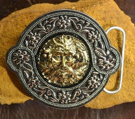 Greenman Gold Plated Belt Buckle Wulflund Com