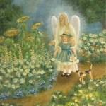 Garden Angel - copyright Bernadette Wulf