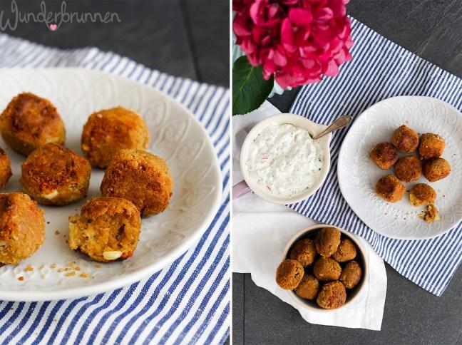 Hafer-Bohnen-Falafel mit Gemüsequark - - Wunderbrunnen - Foodblog - Fotografie