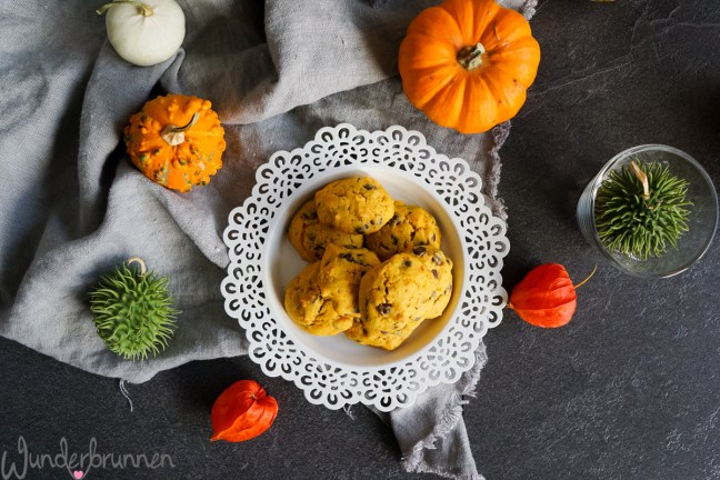 Pumpkin Chocolate Chip Cookies - Wunderbrunnen - Foodblog - Fotografie