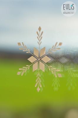 Eulis Nähwerkstatt_ Schneeflocke Acryl auf Glas