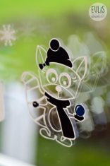 Eulis Naehwerkstatt Rosa Raccoon Winter_Acryl auf Glas