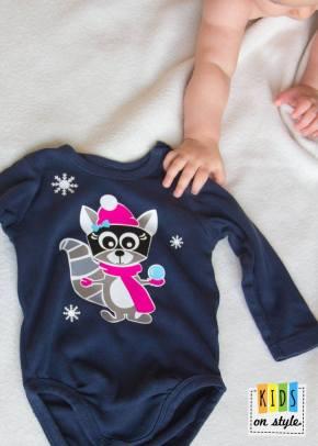 Kids on style_Rosa Raccoon Winter