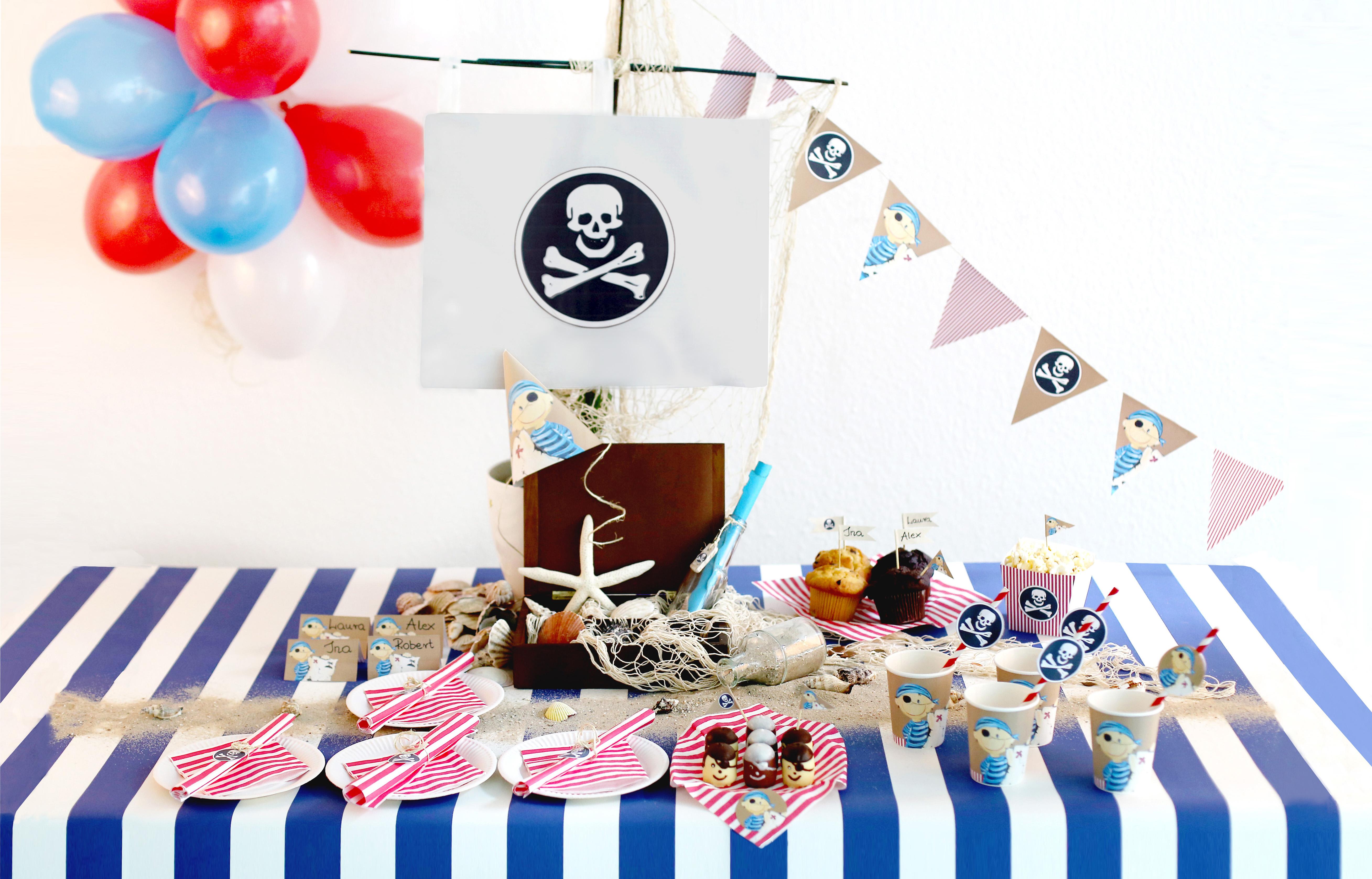 Tolle Deko fr eine gelungene Piratenparty  Wundermagazin
