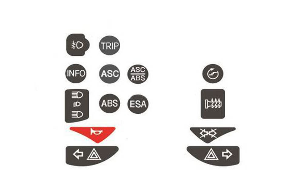 Control Switch Replacement Decals (#74174123) F650 GS (2