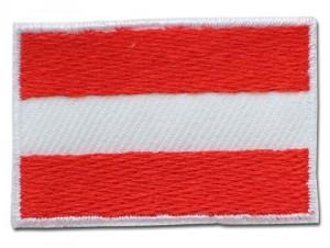 Gestickte Österreichs Flagge