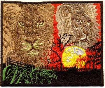Löwen-Aufnäher gestickt