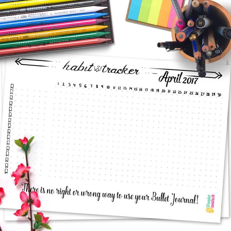 15 Bullet Journal Printables April 2017 - Wundertastisch Design