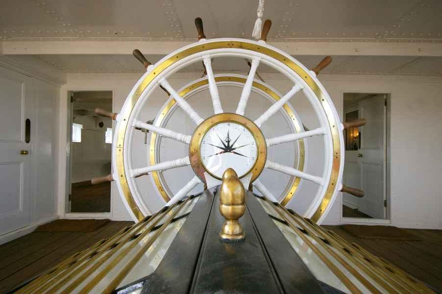 Ships wheel, HMS Gannet