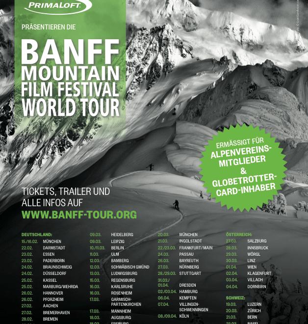 BANFF Mountain Film Festival Tour 2014 – auch in Österreich