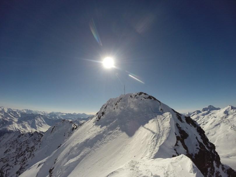 Rückblick zum Gipfel.