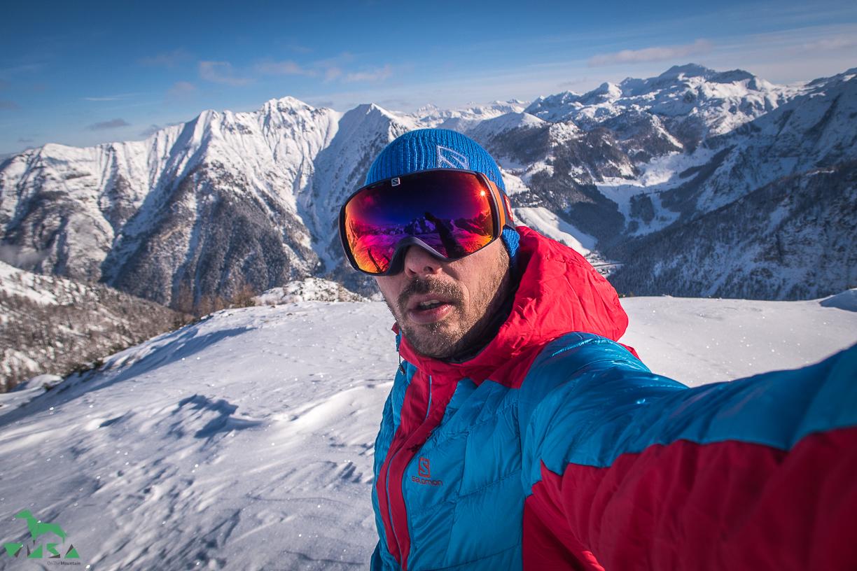 Posen am Gipfel Schilcheck