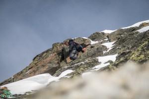 Passage zum klettern auf der Schöntalspitze.