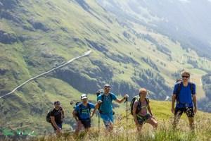 Steiler Aufstieg zum Vorderen Sajatkopf in Osttirol.