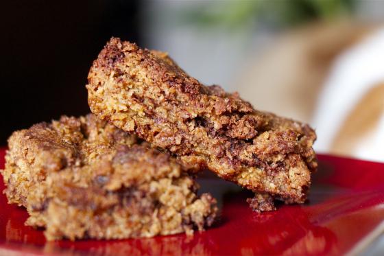 Gluten Free, Stem Ginger, Dark Chocolate, Flapjacks