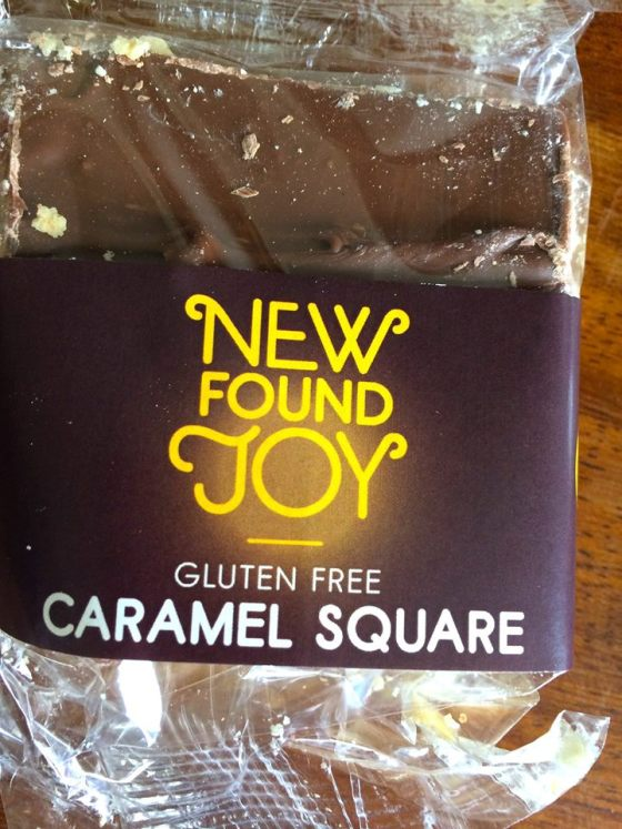 Gluten Free, caramel square slice, new found joy, gluten free blog uk