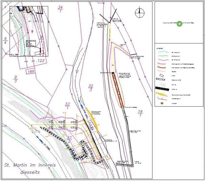 Karte Hochwasserschutz St. Martin im Innkreis