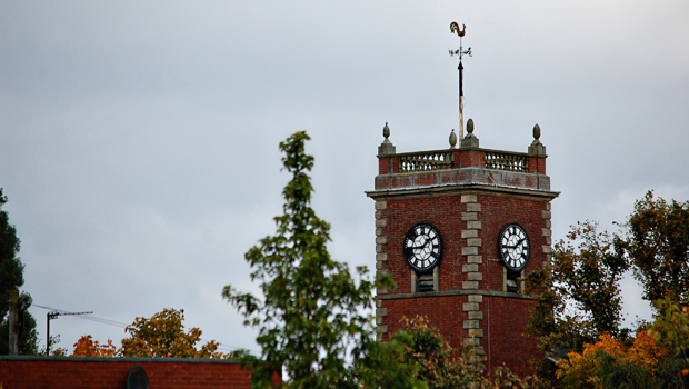 The Clock tower of St Thomas' Church