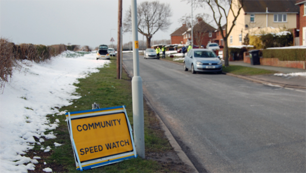 A polite notice to passing drivers!