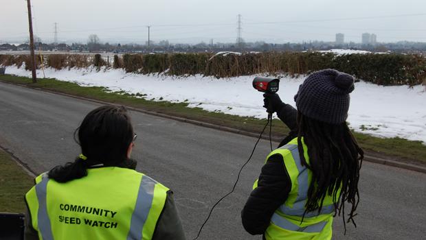 Volunteers in action...