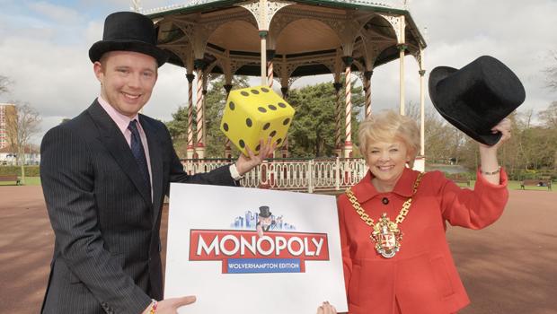 Dan Taylor from Winning Moves UK & Mayor of Wolverhampton Councillor Christine Mills