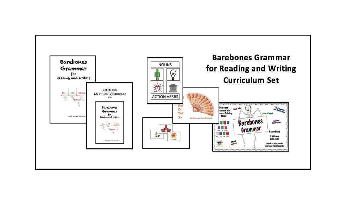 Barebones Grammar for Reading and Writing Curriculum by