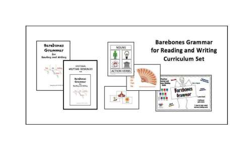 Barebones Grammar for Reading and Writing Curriculum by Wendy Stacy