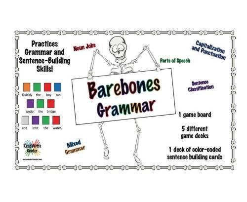 Barebones Grammar Board Game by Wendy Stacy