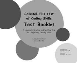 Gallistel-Ellis Student Test Booklet