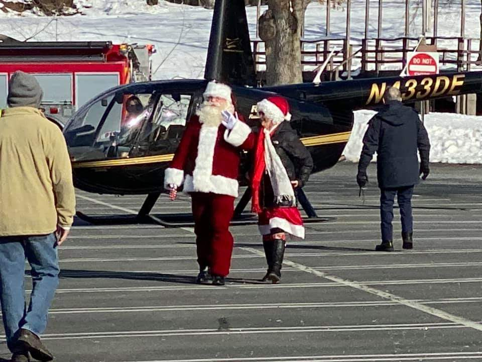 Helicopter Santa