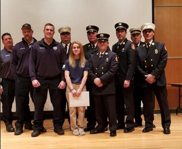 Members of the Warwick Fire Department attend the Orange County Firefighters Graduation at the O.C. 911 Center in Goshen. Photo provided