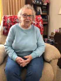 Gloria Schlagel, 95, has lived all over the US, but is happy to be back in her hometown of Warwick. Photo credit: Warwick Valley Dispatch/Sara Paul